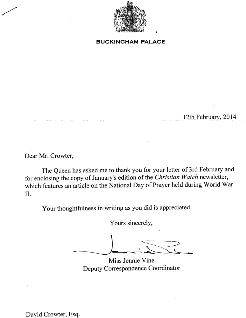 Letter 12th Feb 2014