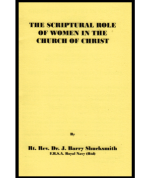 The Scriptural role of woman in the Church of Christ